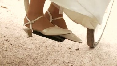 Bride Legs Shoes — Stock Video