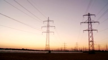 Power poles — Stock Video