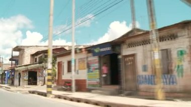 On the street of Iquitos, Peru — Video Stock