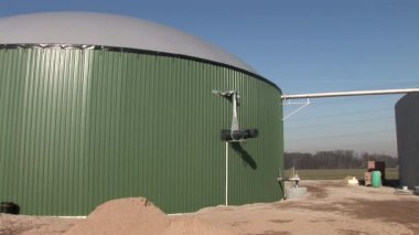Biogas plant — Stock video