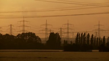 Electrical towers — Video Stock