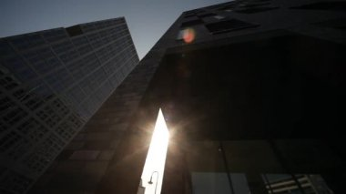 Skyscrapers, urban scene — Stock Video