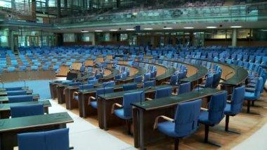 Meeting room, boardroom in the Bundestag — Stockvideo