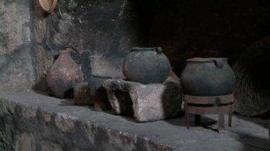 Old Kitchen, Abbey Santa Catalina — Stock Video