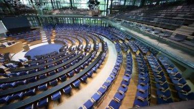 Meeting room, boardroom in the Bundestag — Stock Video