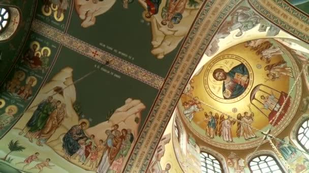 Iglesia griega — Vídeo de stock