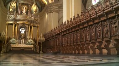 LIMA - CIRCA 2012: cathedral interior — Wideo stockowe