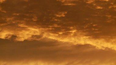 Orange und gelb himmel — Stockvideo