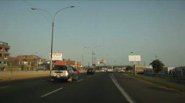 LIMA, PERU - CIRCA JUNE 2012: Driving in Lima — Video Stock