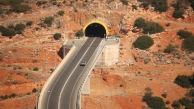 Bridge and tunnel in greece — Stock Video