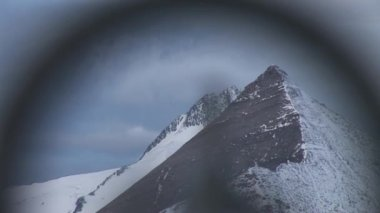 From Edelweissspitze to mountain Grossglockner — Stock Video