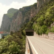 Road at lake garda in Italy — Stock Video