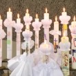 Candles for first communion — Stock Video #39151193