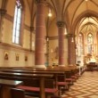 Stock Video: Church interior