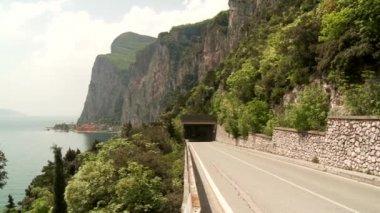 Road at lake garda in Italy — Stock Video