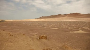 Desert in the paracas national park — Stock Video