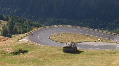Alpine road at mountain Grossglockner — Stock Video