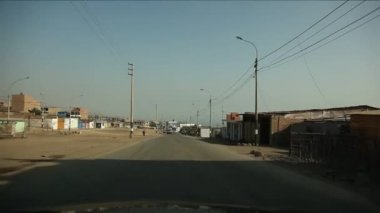 LIMA, PERU - CIRCA JUNE 2012: Driving in Lima — Stock Video