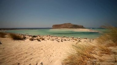 Beach of Balos in Crete — Stock Video