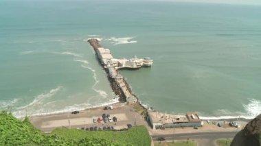 Coastline of the pacific ocean — Stock Video