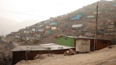 Slums in Lima — Stock Video