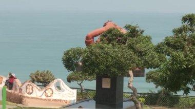 LIMA - CIRCA 2012: coastline of the pacific ocean — Stock Video