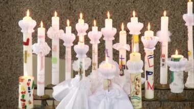 Candles for first communion — Vidéo