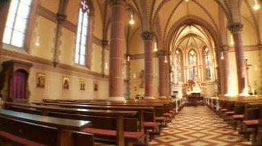 Church interior — Stock Video