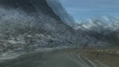 Driving on road at mountain Grossglockner — Stock Video