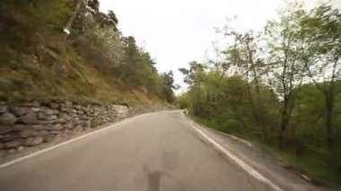 Driving in forest in Italy — Stock Video
