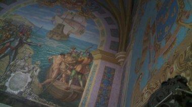 LIMA - CIRCA 2012: cathedral interior — Stock Video