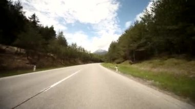 Driving on a highway in the alps — Stock Video