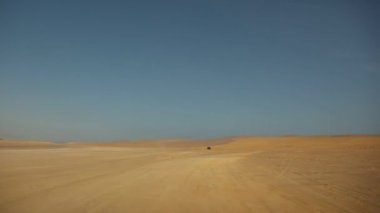Desert, paracas national park — Stock Video