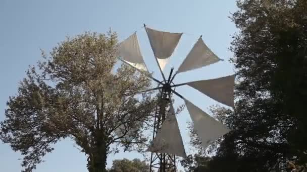 Moulin à vent typique — Vidéo