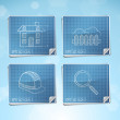Stock Vector: Vector Set: Blueprint Icons