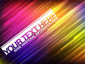 Abstract Glowing Banner With Colorful Stripes — Stock Vector