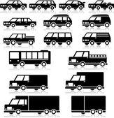 Vektor-retro-fahrzeuge-icon-set — Stockvektor