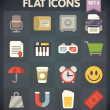 Universal Flat Icons for Web and Mobile Applications Set 6 — Imagens vectoriais em stock