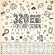320 Vector Doodle Icons Universal Set — Stock Vector