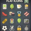 Universal Flat Icons for Web and Mobile Applications Set 11 — Imagens vectoriais em stock