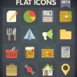 Universal Flat Icons for Web and Mobile Applications Set 4 — Stock vektor