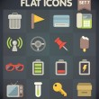 Universal Flat Icons for Web and Mobile Applications Set 7 — Stock Vector #29799161