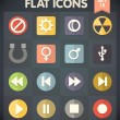 Universal Flat Icons for Web and Mobile Applications Set 15 — Imagens vectoriais em stock