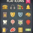 Stock Vector: Universal Flat Icons for Web and Mobile Applications Set 10