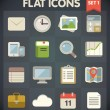 Universal Flat Icons for Web and Mobile Applications Set 1 — Stock Vector #29799235