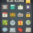 Universal Flat Icons for Web and Mobile Applications Set 2 — Imagen vectorial