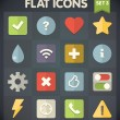 Stock Vector: Universal Flat Icons for Web and Mobile Applications Set 3