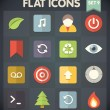 Universal Flat Icons for Web and Mobile Applications Set 9 — Stock Vector