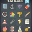 Universal Flat Icons for Web and Mobile Applications Set 11 — Stock Vector