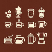 Vector Coffee, Tea and Drinks icons set — Stock Vector